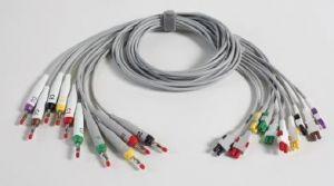 EKG-Elektrodenleitungen mit Bananenstecker